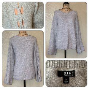 a.n.a Plush Gray Sweater